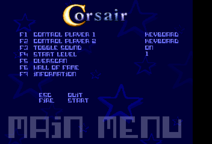 Corsair [Falcon030] atari screenshot